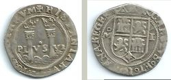 1542-1555 Mexico, Charles & Johanna Silver 1 Real, Mexico City mint.