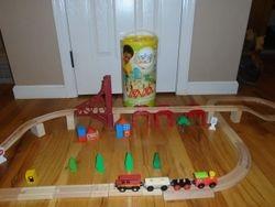 Imaginarium Wooden Train Playset - $20