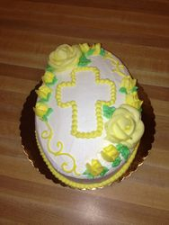 Easter Egg Cake With Cross