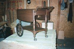 Walnut English Tea Cart