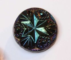 Star and Jewels button #1205