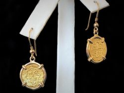 24k replica coins set in 14k gold