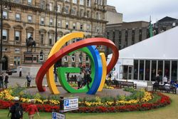 Commonwealth Games symbol in Glasgow