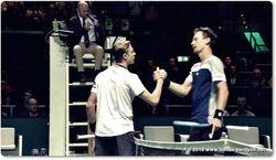 Tomas Berdych and Denis Shapovalov Handshake