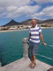 John on the pier in Porto Santo