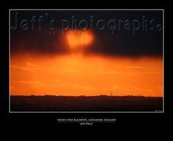 Sunset over Blackpool, Lancashire, England