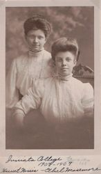 Harriet Norris and Ethel Masemore