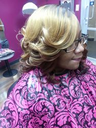 Long quick weave with curls