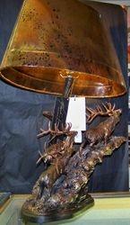 Bull Elk Lamp