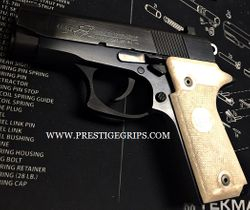 COLT DOUBLE EAGLE MK II Series 90 Checkered White Pearl mounted