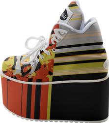 Stripes platform shoes