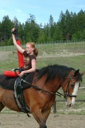 May: Training in Spokane, Washington, USA - Iris practicing her Freestyle on Lady Mae