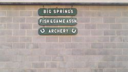 Fish and Game Archery sign