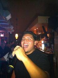 Kelvy expressing himself at 502 Bar Lounge's Social Saturday Karaoke Night!