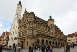 City hall and tower in Rothenburg