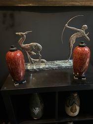 Vue dans la Galerie Paire Vases Paul Millet Sèvres