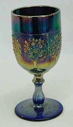 Orange Tree wine glass, blue