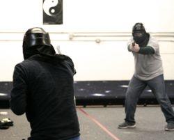 Defensive pistol force on force