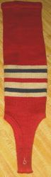 1959 STAN MUSIAL ST. LOUIS CARDINALS MLB BASEBALL GAME WORN STIRRUP SOCK