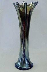 """Spiralex 11"""" vase in blue"""