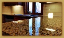 Granite countertop surface refinishing