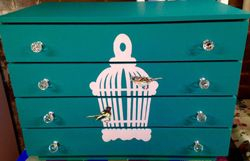 Teal drawers