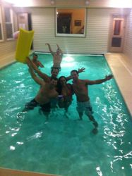 Pool party in January!