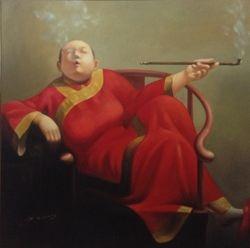 Lady Smoking Opium, 2005