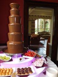 Chocolate fountain hire masham north yorkshire