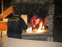 Fireplace repairs continued