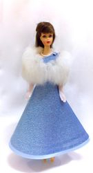 TNT in Sylvia's Blue Sparkling Gown