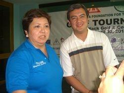 Sis Bum-bum with Alex Santos of ABS-CBN