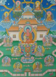 Sukhavati Pure Land Thangka