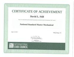 ICC Mech. certificate