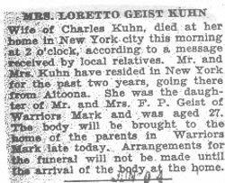 Kuhn, Loretta Geist 1931