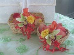 Flower Girls' Baskets with petals