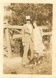 Hubert Linwood Raburn Sr and Margaret Stella Ainsley Raburn 1928