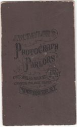 J. W. Taylor, photographer of Rochester, NY - back