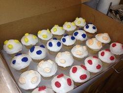 Smurf Village Cupcakes
