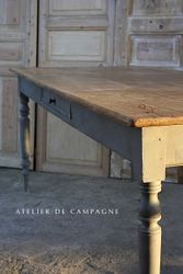 SOLD #28/177 FRENCH FARMHOUSE TABLE DETAIL