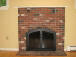 Before Small Mantel Fire Place