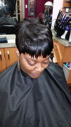 Short, pixie cut sew in