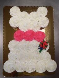 cupcake cake $3 each cupcake +$7 flower bouqet
