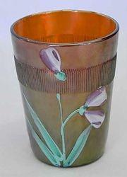 (Enameled) Iris/Columbine with Prism Band, amethyst
