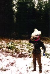 1999  Jack Olsen from Melbourne, wearing a 'snow hat'