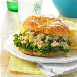 Curried chicken Croissant