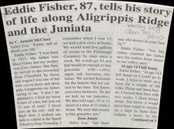Edward Fisher News Aritcle - Part 1