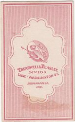 Treadwell & Peaslee, photographers of Indianapolis, IN - back