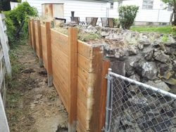AFTER retaining wall installation