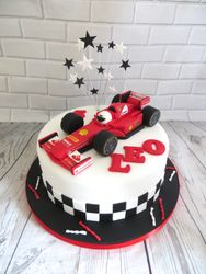 F1 car birthday cake